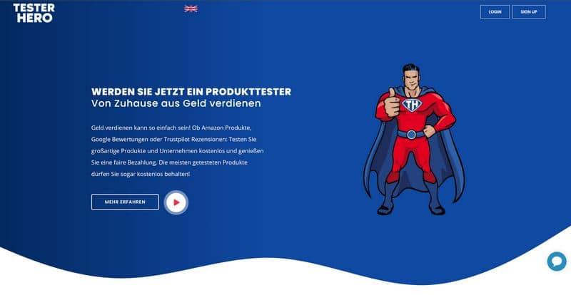 TesterHero.de - Vorstellung des neuen Testportals