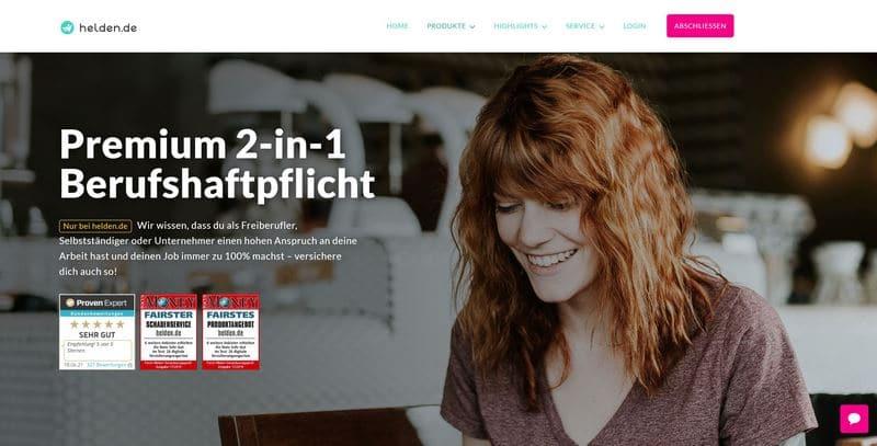 HISCOX Premium 2-in-1 Berufshaftpflichtversicherung von helden.de vorgestellt