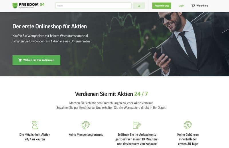 FREEDOM24 Online Aktien