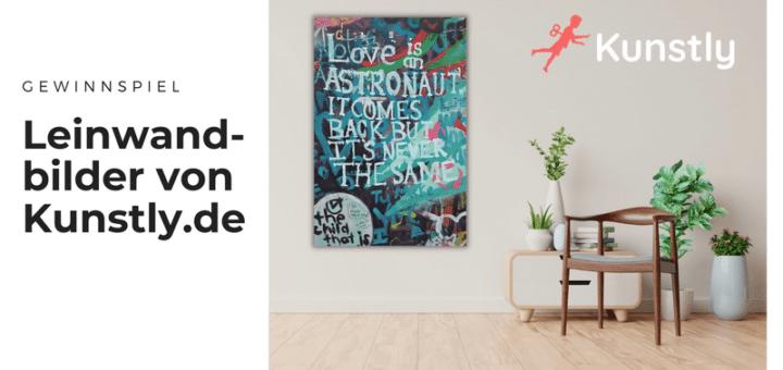 Gewinnt wundervolle Leinwandbilder von Kunstly.de