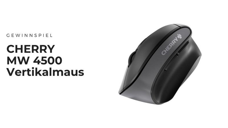 CHERRY MW 4500 Vertikalmaus - Ergonomische Maus fürs Office