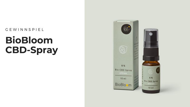 Gewinnt das 5% Bio CBD Spray mit Zitrusgeschmack von BioBloom