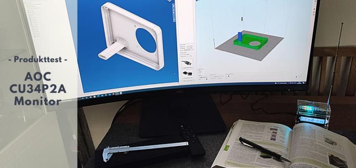 AOC CU34P2A Curved PC-Monitor - Perfekt fürs Home Office